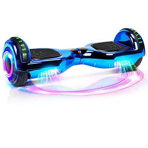Hoverboard, 6,5' Selbstbalancierendes Scooter Hover Board mit Rädern Bluetooth Lautsprecher LED-Leuchten...