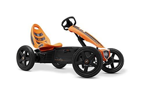 Berg Pedal Gokart Rally Orange | Kinderfahrzeug, Tretauto mit Optimale Sicherheid, Luftreifen und...