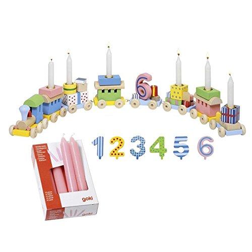goki 2286 - Geburtstagszug mit Kerzen Rosa