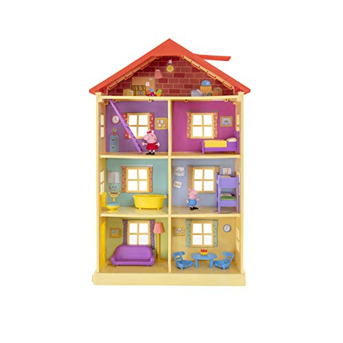 Peppa Wutz PEP0757 Peppa's Traumhaus Spielset Haus mit 2 exklusiven Figuren: Peppa und Schorsch mit...