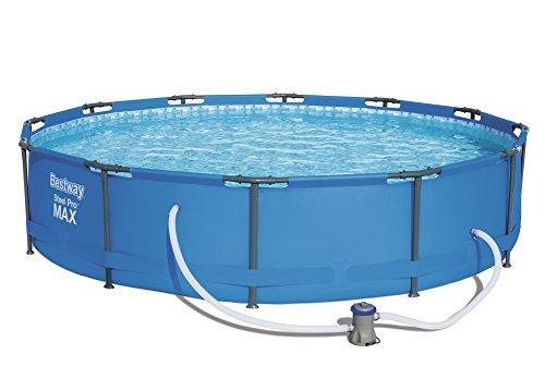 Bestway Steel Pro MAX Frame Pool, rund mit Stahlrahmen und Filterpumpe, 366 x 76 cm