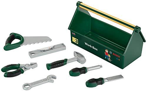 Theo Klein 8573 Bosch Werkzeug-Box I 7-teiliges Werkzeug-Set I Stabile Box mit praktischem Tragegriff I...