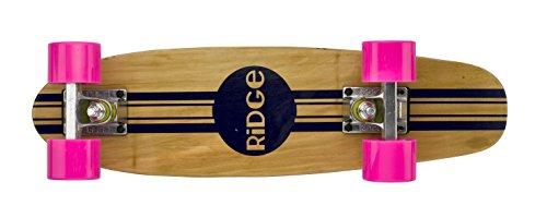 Ridge Retro Skateboard Mini Cruiser, rosa, 22 Zoll, WPB-22