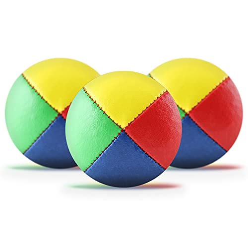 3er Set Jonglierbälle mit Jonglage-Anleitung zum Download - 62mm Jonglierball - Füllung aus...