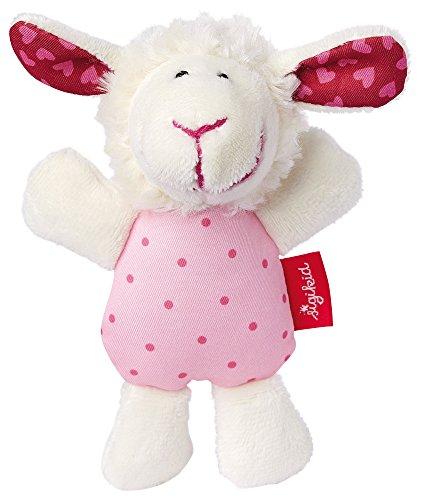 sigikid, Mädchen, Greifling und Rassel Schaf, Weiß/Rosa, 41189