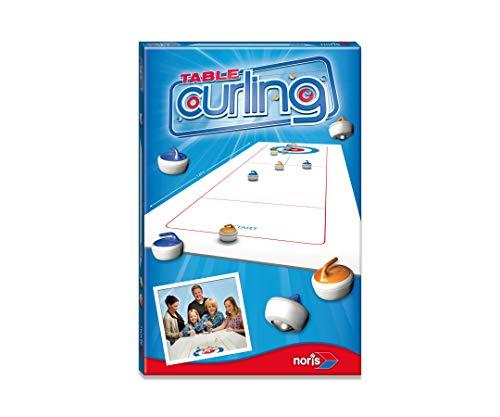 Noris 606171432 Table Curling das weltbekannte Spiel für Zuhause, mit faltbarem Spielfeld der Größe...
