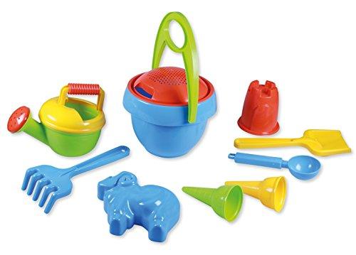 Lena 5420 Happy Sand Spielset Jungs I, Sandspielzeug mit 10 Teilen für Kinder ab 2 Jahren,...