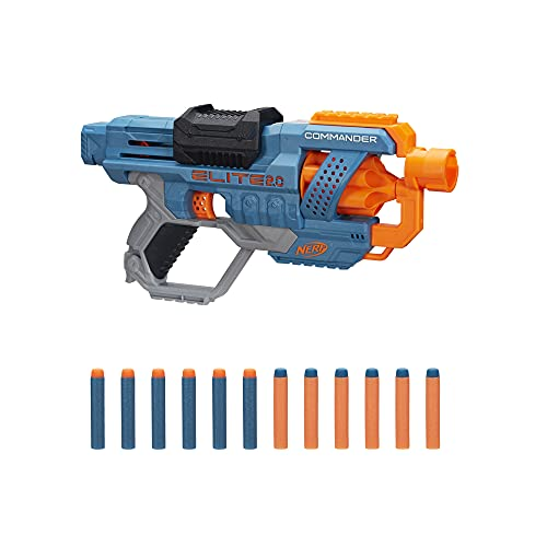 Hasbro E9485EU4 Nerf Elite 2 Commander RD-6 Blaster, 12 Nerf Darts, 6-Dart Rotationstrommel, Tactical...