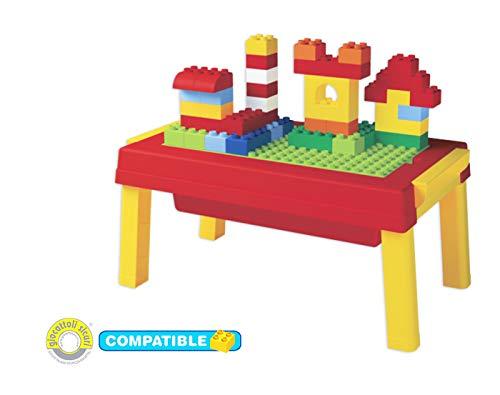 Unico Plus Tisch Spieltisch mit 50 Bausteinen große Grundplatte