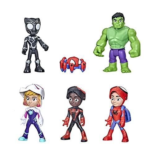 Hasbro Spidey and His Amazing Friends Maskierte Helden Multipack, 10 cm große Action-Figuren, für...