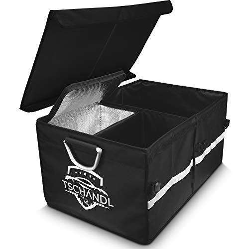 Kofferraum Organizer Autotasche | Große Kofferraumtasche mit Kühltasche Kühlbox | Faltbare Auto Tasche...