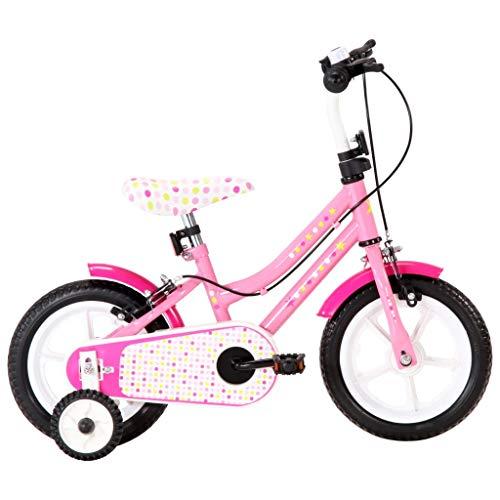 vidaXL Kinderfahrrad mit Kettenschutz Schutzblech Höhenverstellbarer Lenker Mädchenfahrrad Kinderrad...