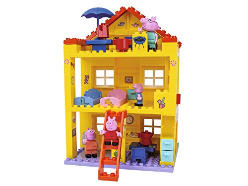 BIG Spielwarenfabrik 800057078 Peppa Pig Haus - Peppa´s House, Construction Set, BIG-Bloxx Set bestehend...
