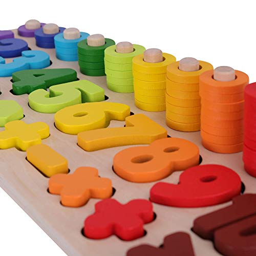 SCHMETTERLINE Holz-Puzzle mit Zahlen für Kinder ab 3 Jahre _ Montessori Spielzeug aus Holz zum Zählen...