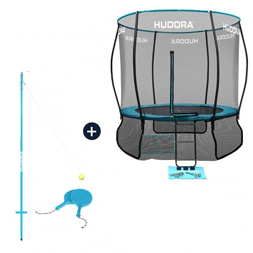 HUDORA Fantastic Complete Trampolin/Gartentrampolin, mit Sicherheitsnetz, 300 cm (Trampolin mit...