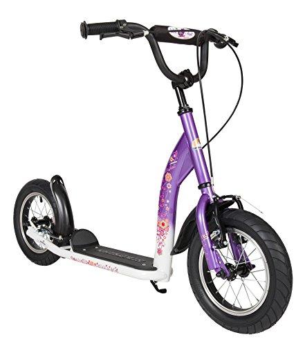 BIKESTAR Roller Kinderroller Tretroller Kickscooter mit Luftreifen für Mädchen ab 6-7 Jahre | 12 Zoll...