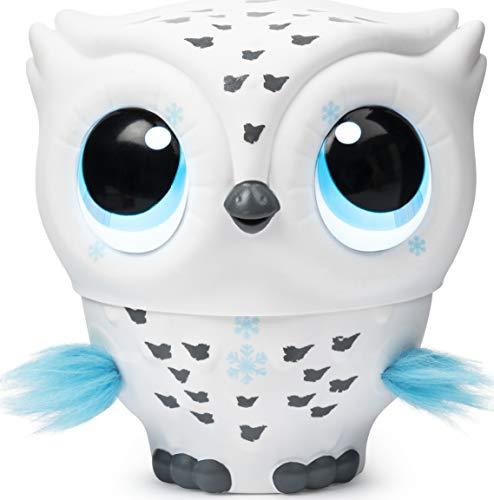 Owleez Fliegende interaktive Spielzeug-Babyeule mit Leuchteffekten und Sounds (Weiß), für Kinder ab 6...