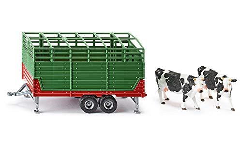 siku 2875, Viehanhänger inkl. 2 Holstein-Kühen, 1:32, Metall/Kunststoff, Grün, Viele Funktionen