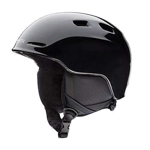 SMITH Kinder Skihelm Zoom Junior Helm mit EPS Schaum, Black, M /53-58