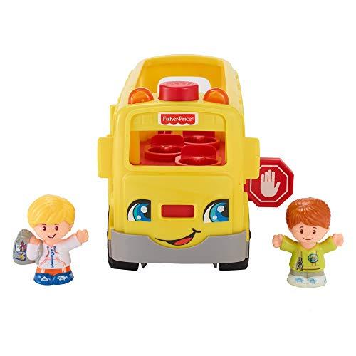 Fisher-Price FKW99 Little People Schulbus interaktives Fahrzeug mit Liedern und Geräuschen inkl. 2...