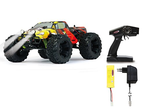 Jamara 503853 Tiger Monstertruck 1:10 4WD NiMh 2.4GHz, LED, Allrad, Elektroantrieb, Akku, 35Kmh,...