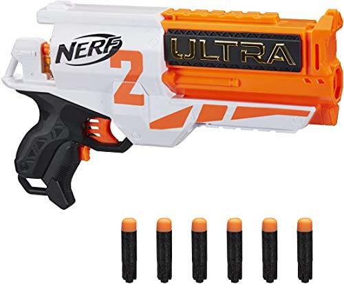 NERF Hasbro E79214R00 Ultra Two motorisierter Blaster – schnelles Nachladen von hinten – enthält 6...