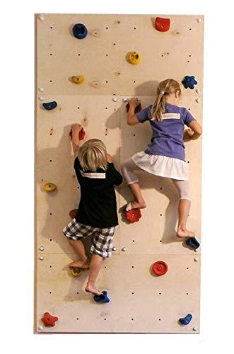 Gartenpirat Indoor Kletterwand IW4 240 x 120 cm mit 20 Klettersteinen