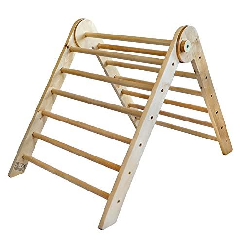 Piklino Kletterdreieck nach Pikler Art aus Holz, klappbar   Indoor Klettergerüst für Kinder und Babys...