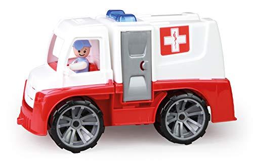 Lena 04456 - TRUXX Krankenwagen Einsatzfahrzeug mit Spielfigur als Sanitäter und Krankentrage,...