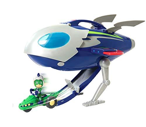 Simba 109402369 - PJ Masks Super Moon Rakete Mondrakete, Space Rover Fahrzeug und Spielfigur Gecko mit...