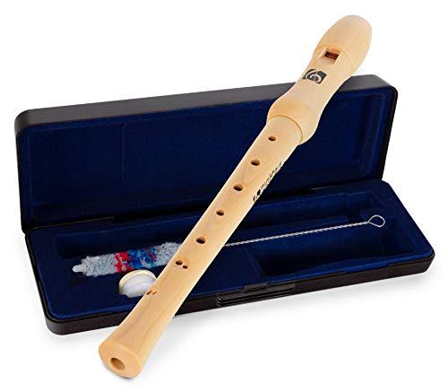 Kirstein C-Sopran Blockflöte barocke Griffweise - Holzblockflöte aus Ahornholz für Kinder und...