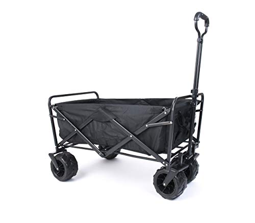 Amazon Brand - Umi Bollerwagen Offroad Transportwagen Handwagen faltbar Gartenwagen die Reifen mit Lager...
