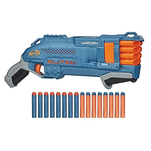 Nerf Elite 2.0 Warden DB-8 Blaster, 16 Nerf Darts, 2 Darts gleichzeitig abfeuern, Tactical Rail...