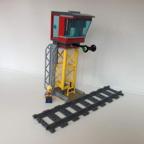 Lego City Eisenbahn Leitstelle mit Leiter und Signalleuchten (aus 60198)