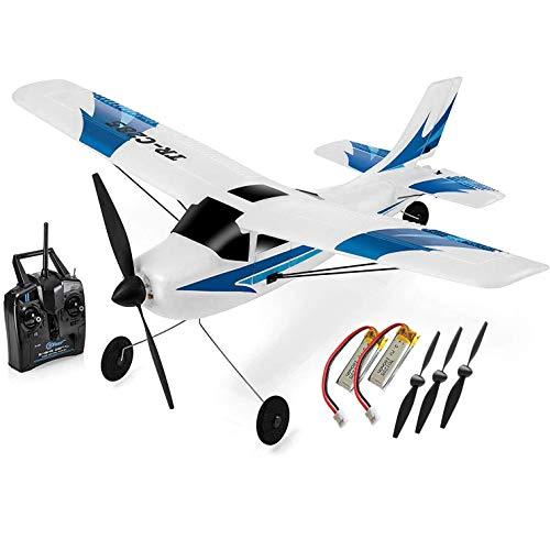 Top Race RC Flugzeug 3 Kanal Ferngesteuertes Flugzeug bereit zum Fliegen RC Flugzeuge für Erwachsene,...
