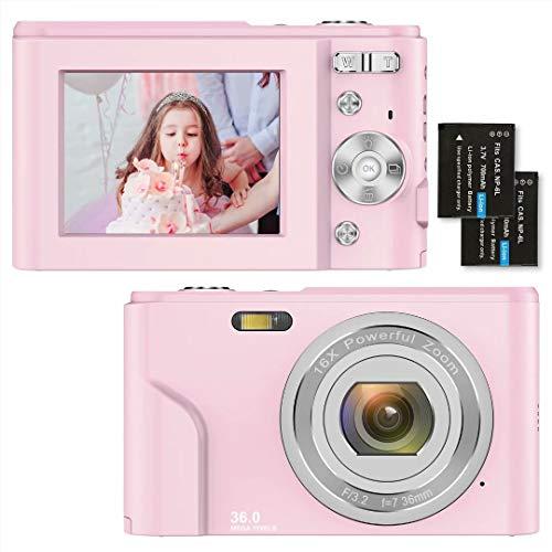 Digitalkamera 1080P HD Kompaktkamera 36 Megapixel Mini-Videokamera 2,4' LCD Digitalkamera...