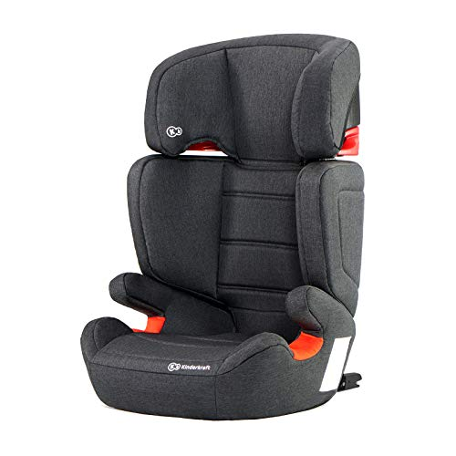 Kinderkraft Kinderautositz JUNIORFIX, Autokindersitz, Autositz, Kindersitz mit Isofix, Gruppe 2/3...