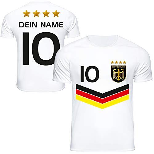 DE FANSHOP Deutschland Trikot mit GRATIS Wunschname + Nummer #DV2 2021/2022 EM/WM Weiss - Geschenk für...