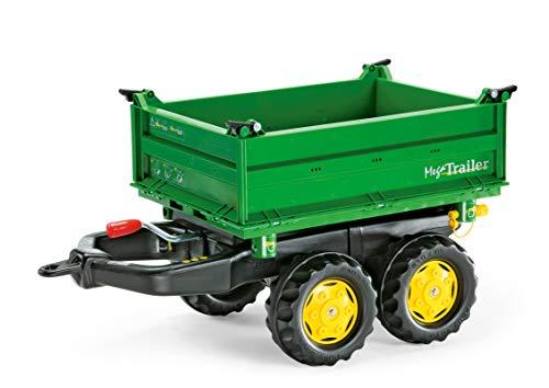 Rolly Toys rollyMega Trailer Anhänger (für Kinder von 2,5 bis 5 Jahren, Dreiseitenkipper, Heckkupplung,...