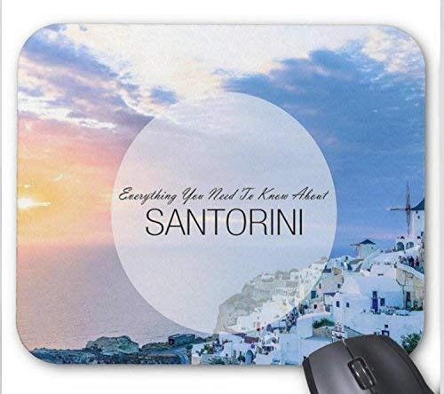 Santorini griechenland reiseführer muster mauspad