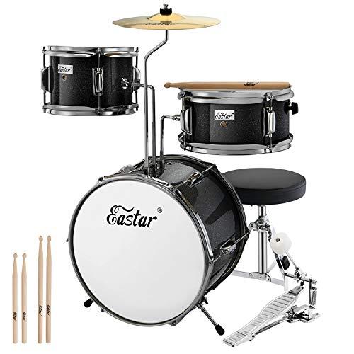 Eastar Schlagzeug 14' 3-teilig, Kinder für 3-10 Jahre, Schlagzeug Set mit Snare, Tom, Bass Drum, Bass...