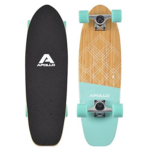 Apollo Mini-Longboard, toller Midi Cruiser als Komplett-Board, 27 x 8, wendiges Kick Tail Mini Longboard...