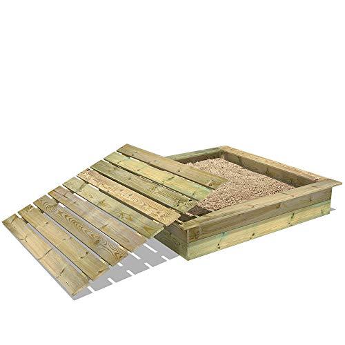 WICKEY Sandkasten Holz Sandkiste King Kong 165x165 cm mit Deckel