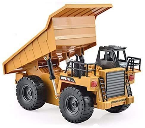 s-idee® S1540 Rc Kipper 6 Kanal Muldenkipper Tieflader Truck 1:18 mit 2,4 GHz kippbare Ladefläche Huina...