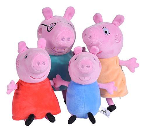 Simba 109261006 Peppa Pig 4-TLG. Familienset im Auto