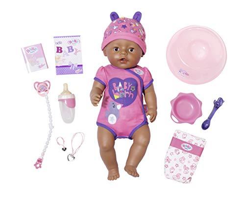 BABY born Zapf Creation 826089 Soft Touch Girl Brown Eyes Puppe mit lebensechten Funktionen und viel...