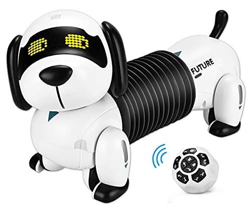 ALLCELE Roboter Hund Kinderspielzeug, Ferngesteuerter Folgen Hund, Programmierbare Roboterhund, Wie Echte...