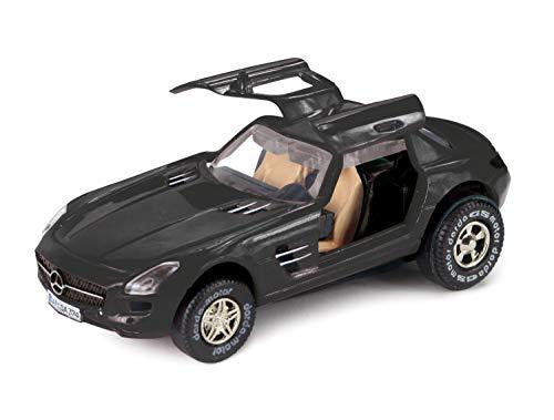 Darda 50376 Auto Mercedes Benz SLS AMG, Rennauto mit auswechselbaren Rückzugsmotor, Fahrzeug mit...
