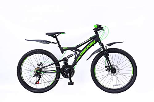 24 Zoll Kinder Jungen Mädchen Fahrrad Kinderfahrrad Jungenfahrrad Mountainbike MTB Rad Bike 18 Gang...