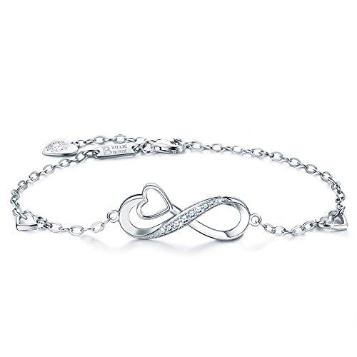 Billie Bijoux Infinity Unendlichkeit Symbol Damen Armband 925 Sterling Silber Zirkonia Armkette...